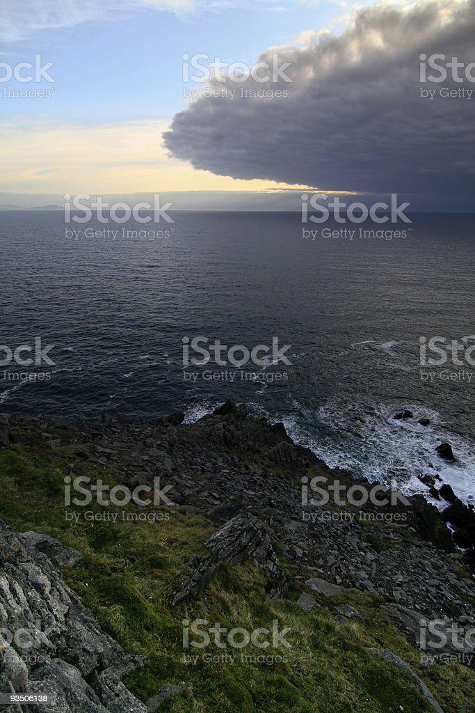 Eye of storm approaching Irish coast royalty-free stock photo