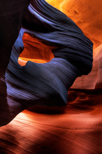 eye of the eagle - lower antelope canyon stock photos and pictures