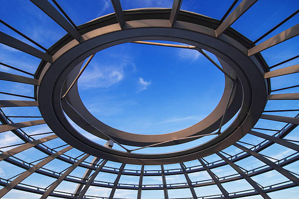 eye of the reichstag - cupola stock pictures, royalty-free photos & images