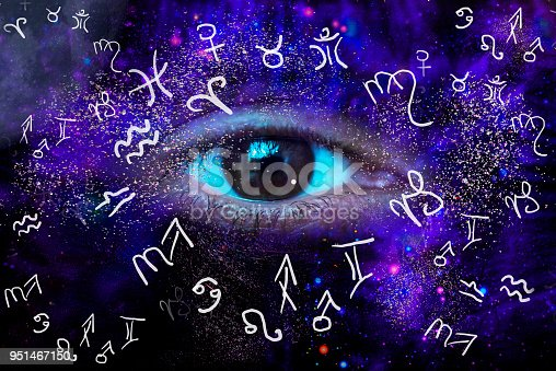815224118 istock photo Eye of the Universe and astrology 951467150