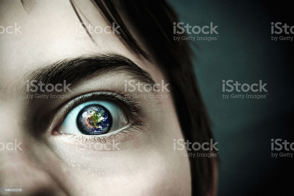 Eye of the world stock photo
