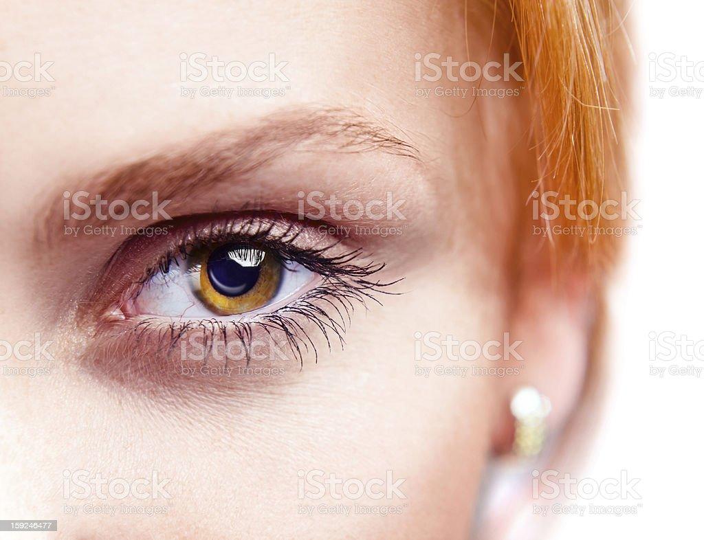 eye of young beautiful woman royalty-free stock photo