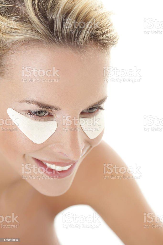 eye pads stock photo