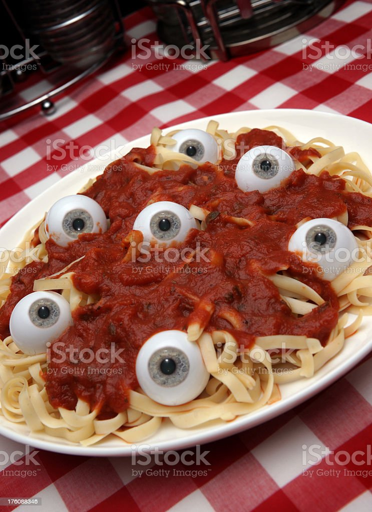 Eye Pasta royalty-free stock photo