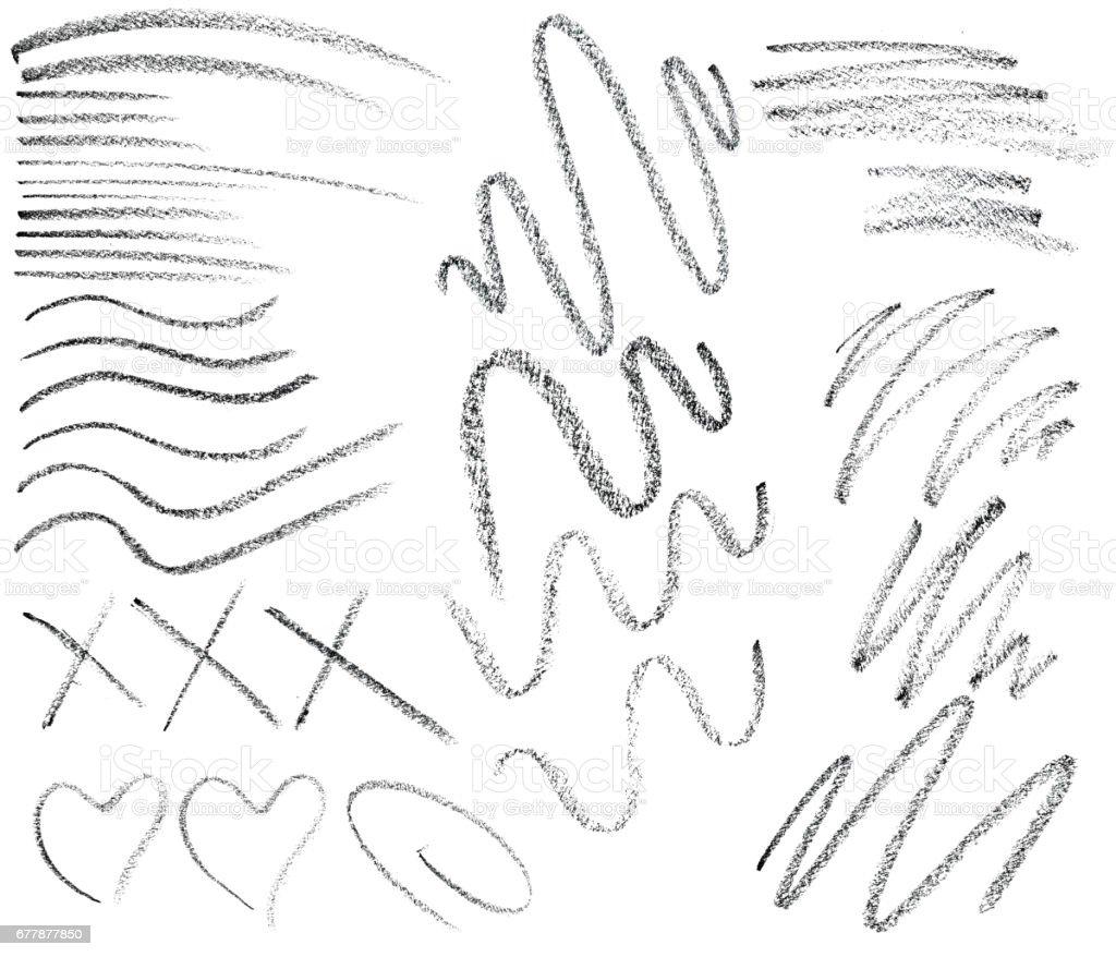 Eye pencil brush stroke collection stock photo