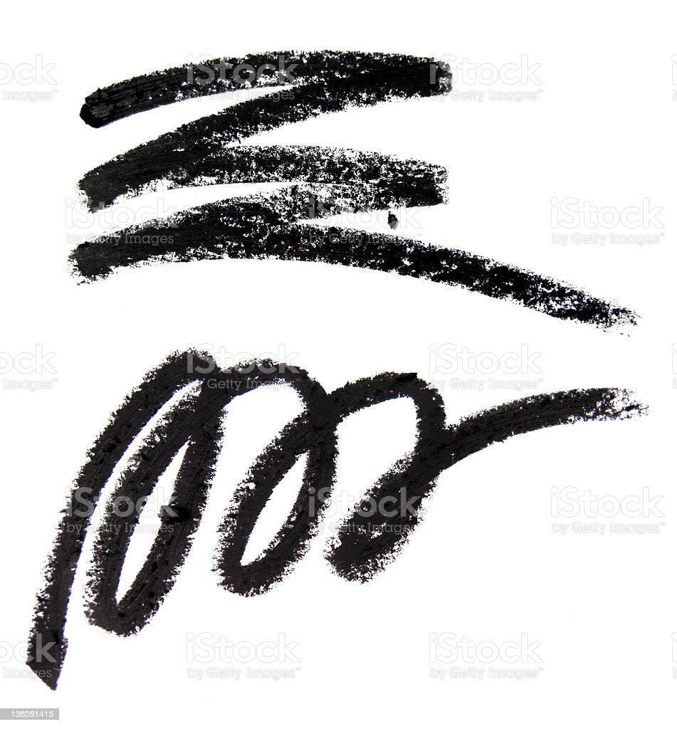 Eye Pencil Pattern stock photo