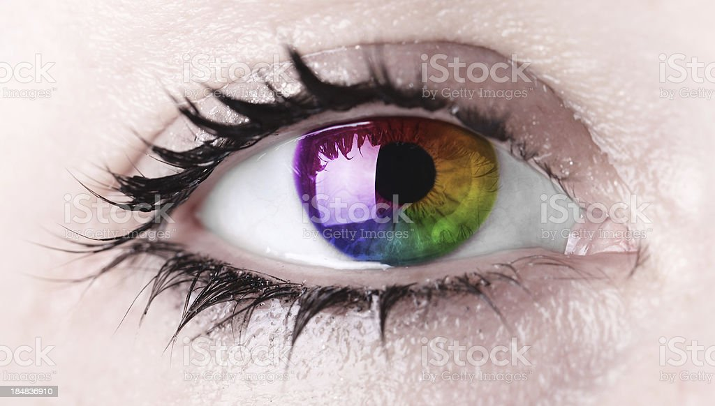 CMYK Eye royalty-free stock photo