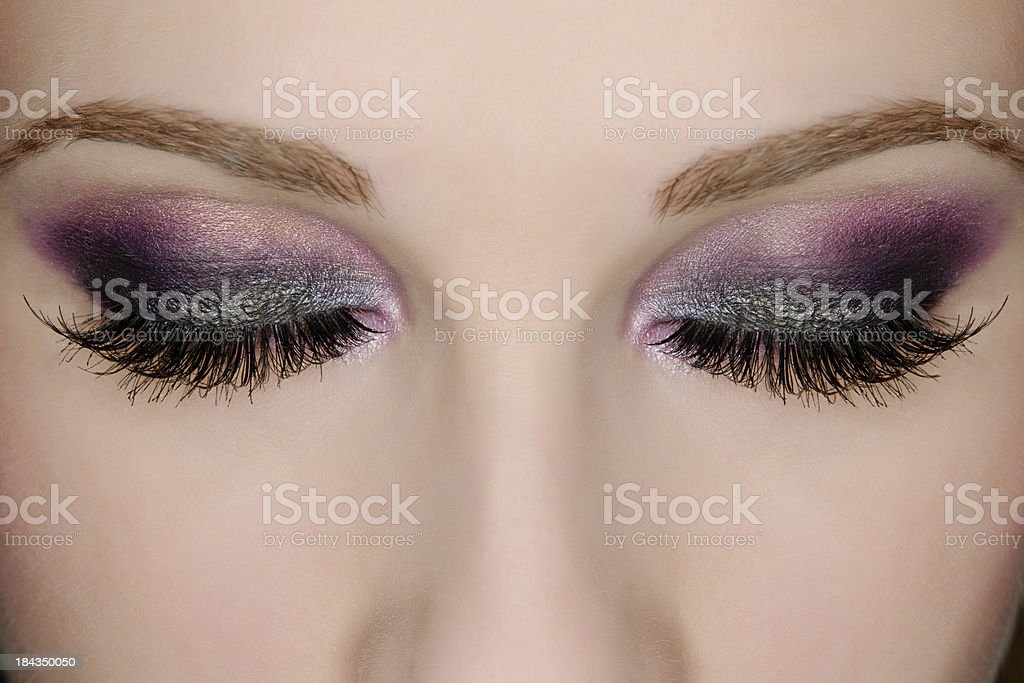 eye purple make up royalty-free stock photo