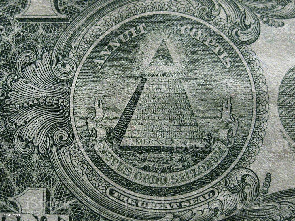 Eye Pyramid royalty-free stock photo