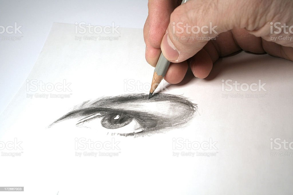 Eye see said the artist stock photo
