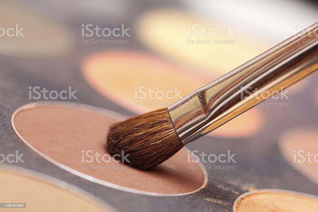 Eye shadow and brush royalty-free stock photo