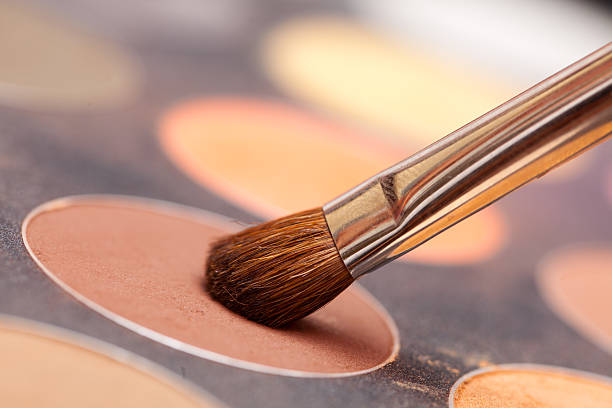 Eye shadow und brush – Foto