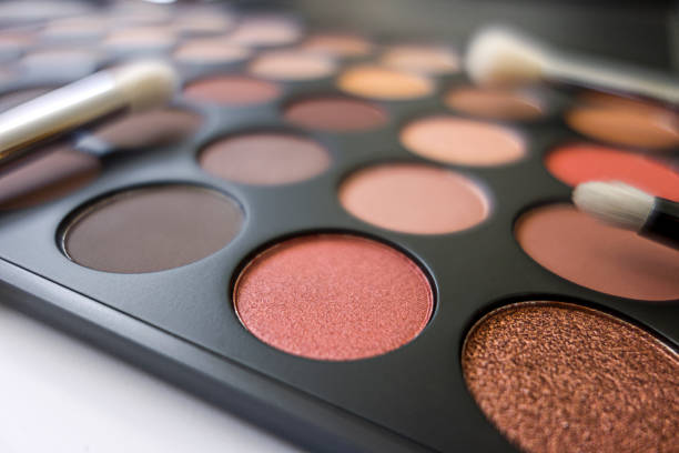 Eye shadow palette Close up eye shadow palette stage make up stock pictures, royalty-free photos & images