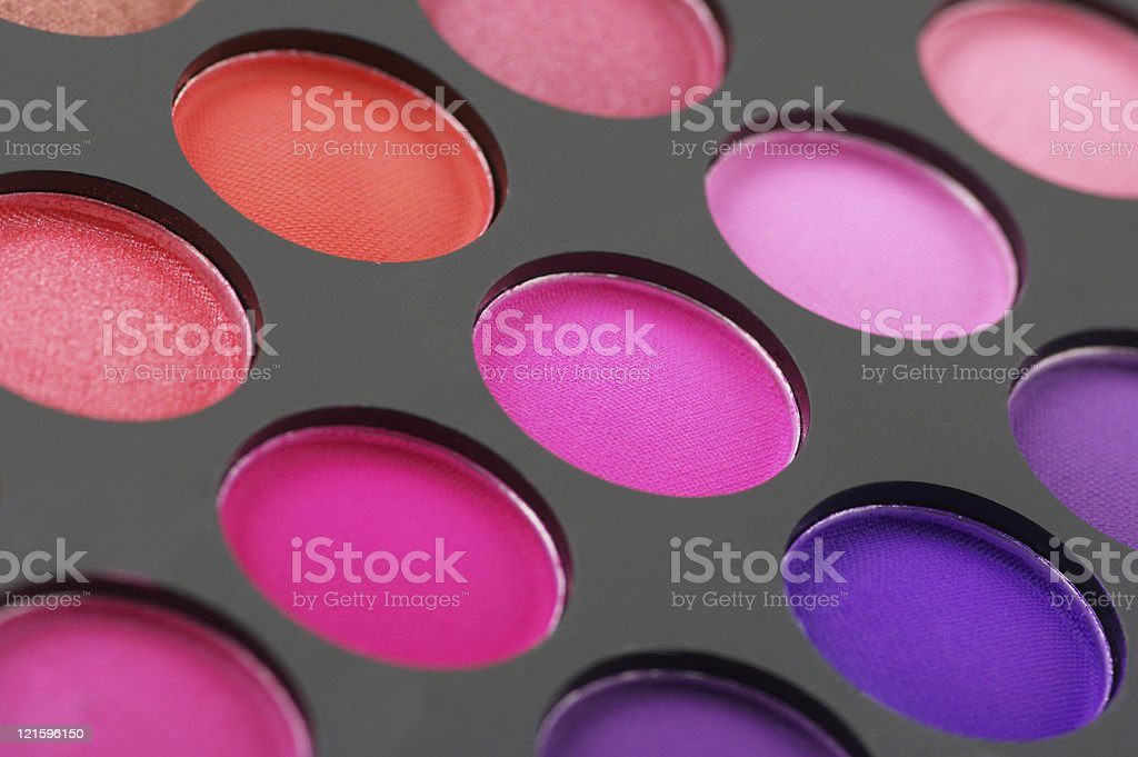 Eye shadows palette close-up royalty-free stock photo