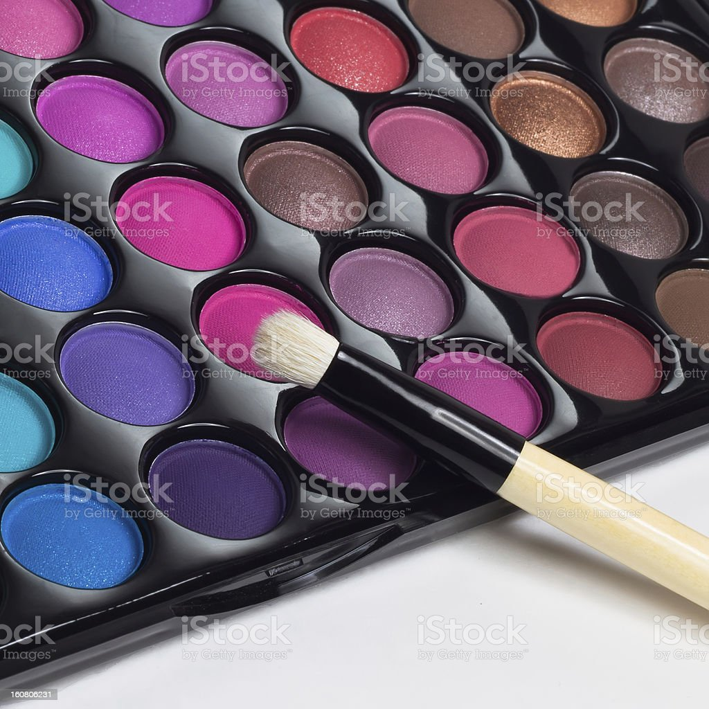 Eye Shadows Palette royalty-free stock photo