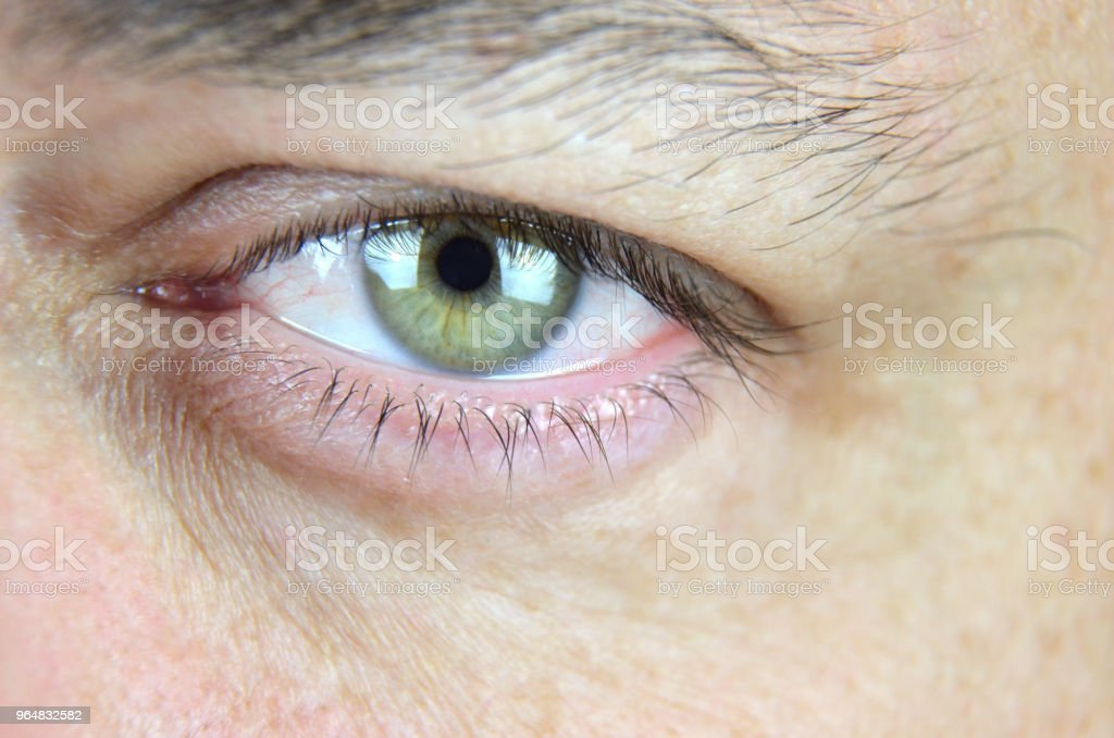 Eye showing anger royalty-free stock photo