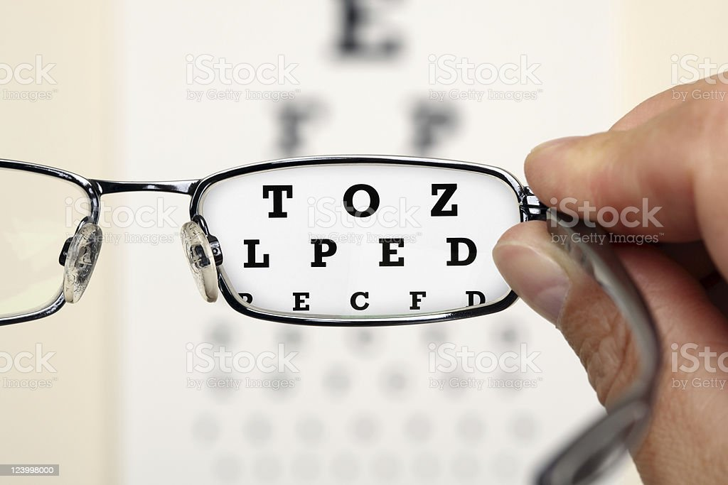 Eye test royalty-free stock photo
