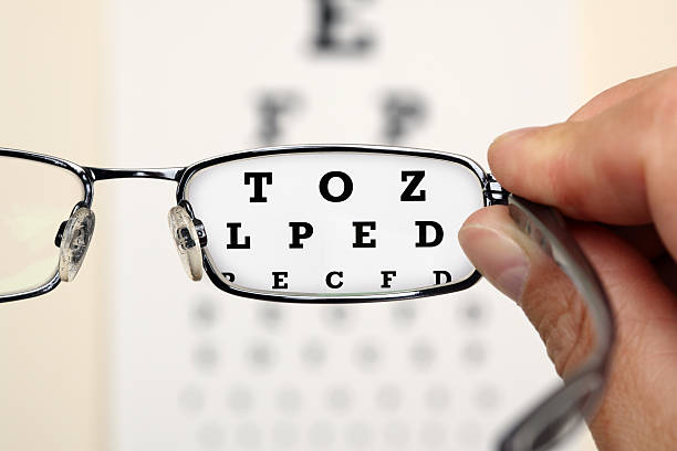 Eye test stock photo