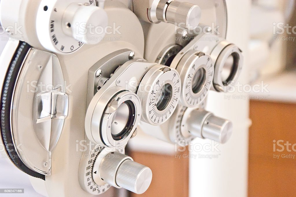 Eye Testing Equipment Optometrist stock photo