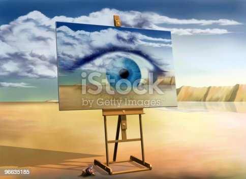 istock Eye with a view 96635185
