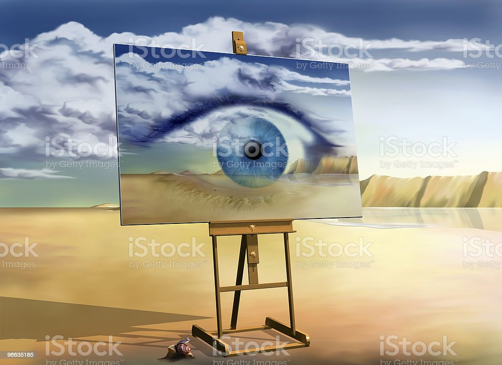 Eye with a view stock photo