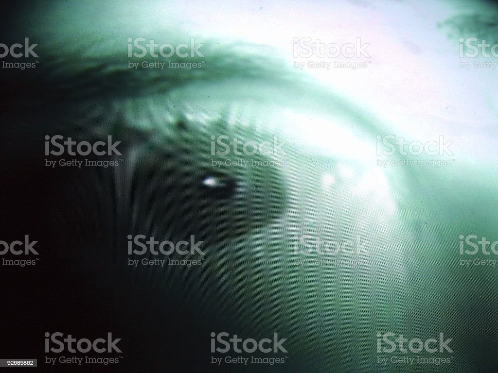 TV Eye with Scanlines stock photo