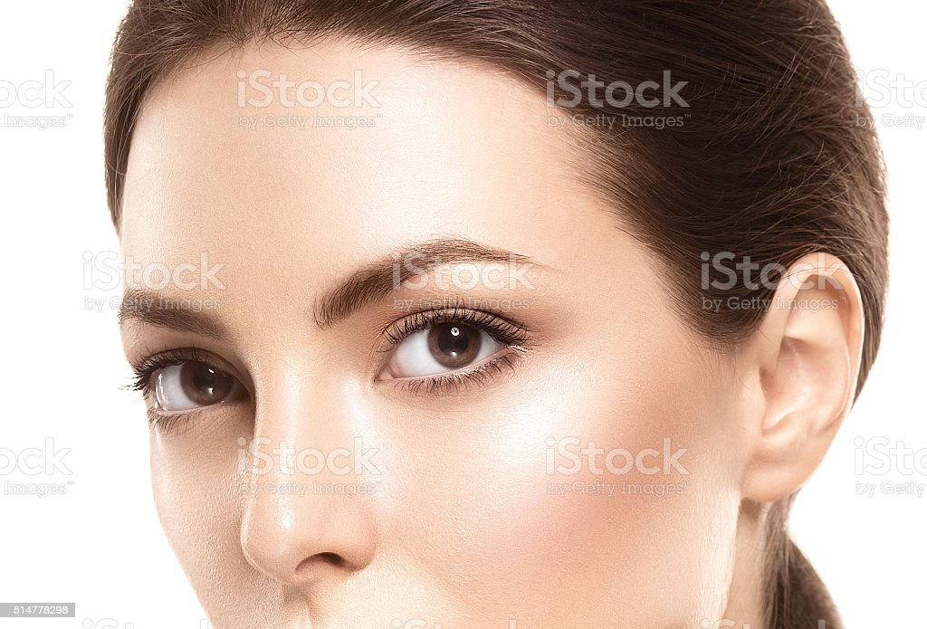 Eye woman eyebrow eyes lashes stock photo