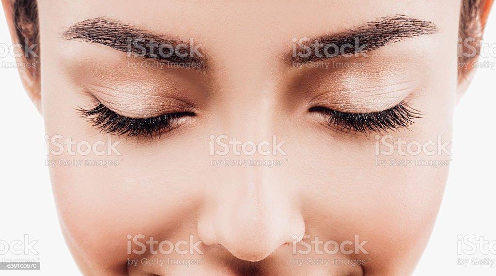 Yeux des cils sourcils yeux femme photo libre de droits