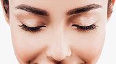 istock Eye woman eyebrow eyes lashes 636100670