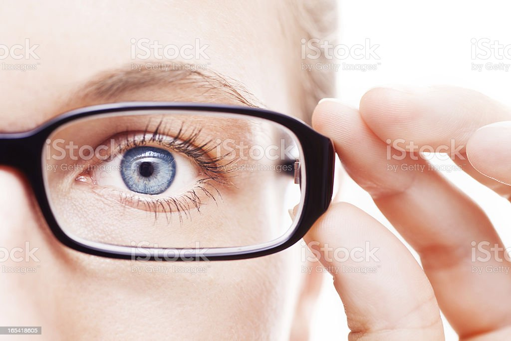 Eyeball and Glasses. royalty-free stock photo