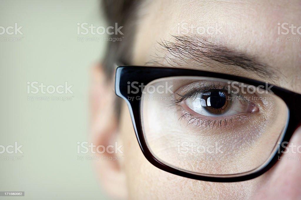 Eyeball and Glasses royalty-free stock photo