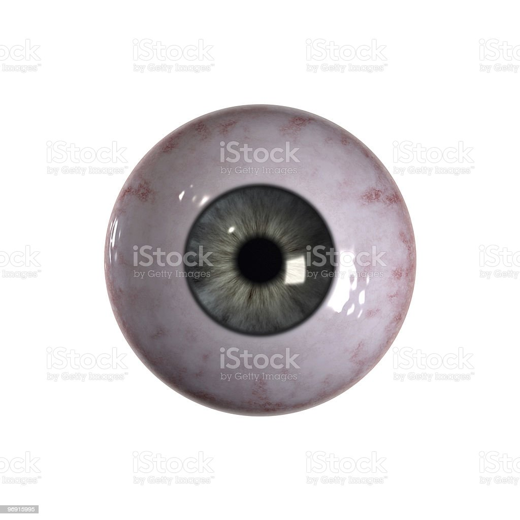 Eyeball blue and green with veins stock photo