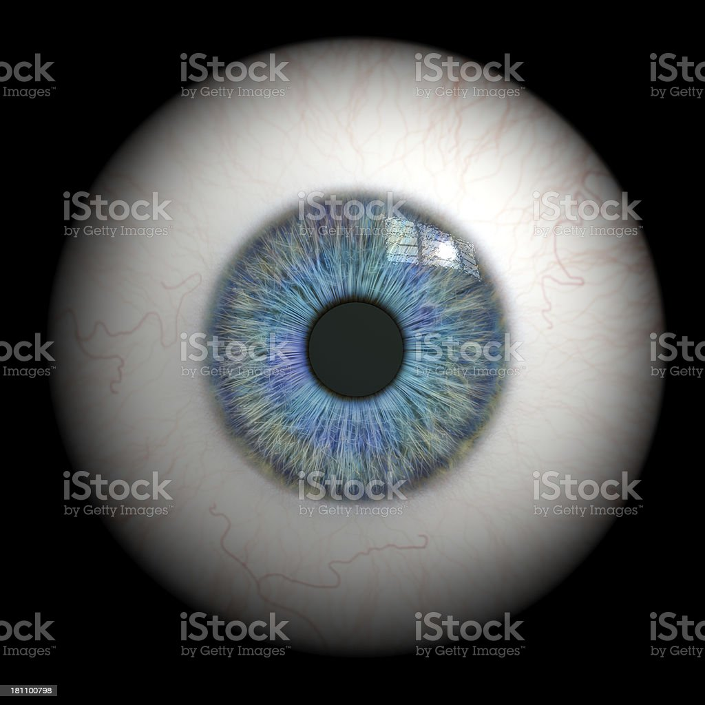 Eyeball close up. stock photo