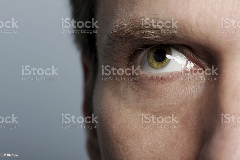 Eyeballing royalty-free stock photo