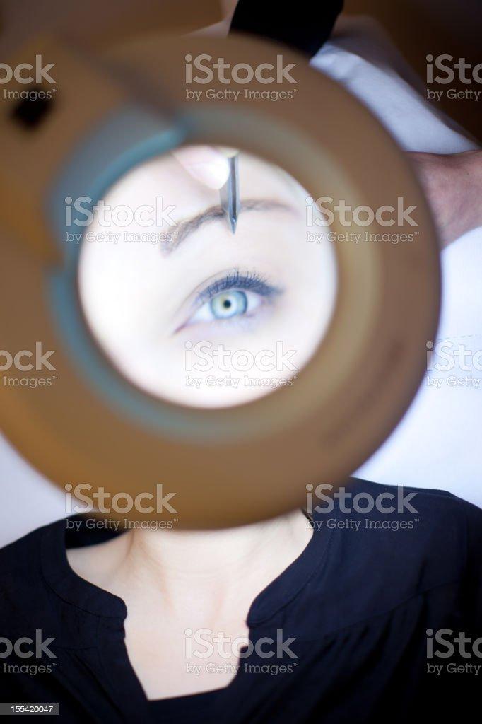 Eyebrow shapping royalty-free stock photo