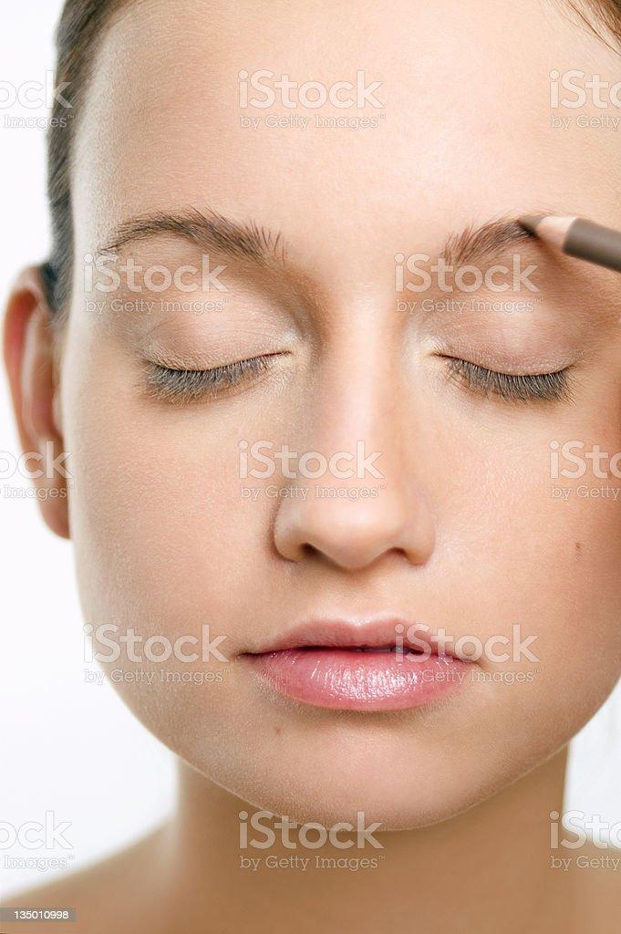 Eyebrows stock photo