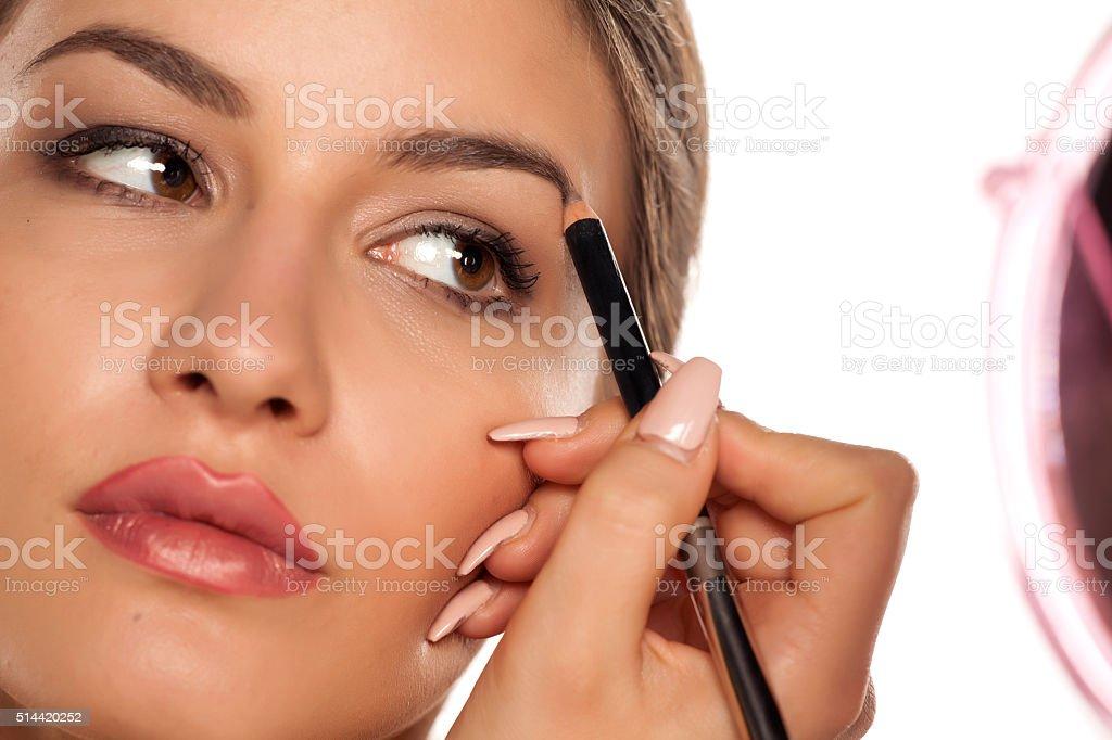 eyebrows shaping stock photo