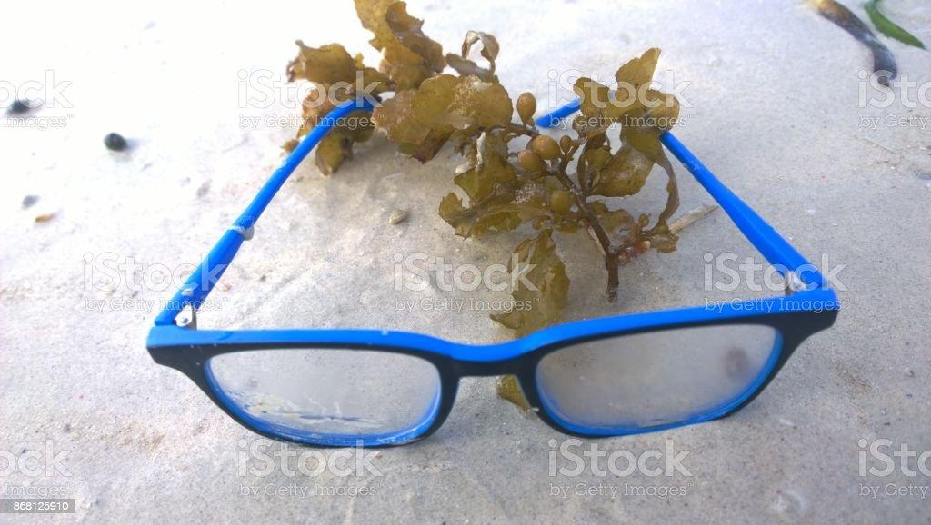 EyeGlass on the Beah stock photo