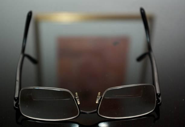Eyeglasses at Rest stock photo