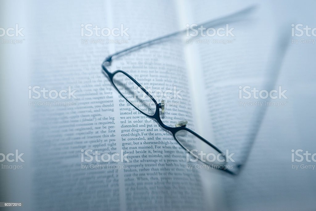 Eyeglasses, Book, Lens-baby, Education, Reading, Nearsightedness royalty-free stock photo