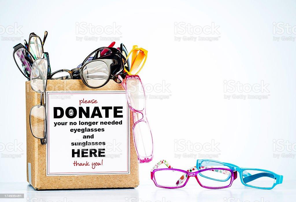 eyeglasses donation box stock photo more pictures of abundance istock. Black Bedroom Furniture Sets. Home Design Ideas