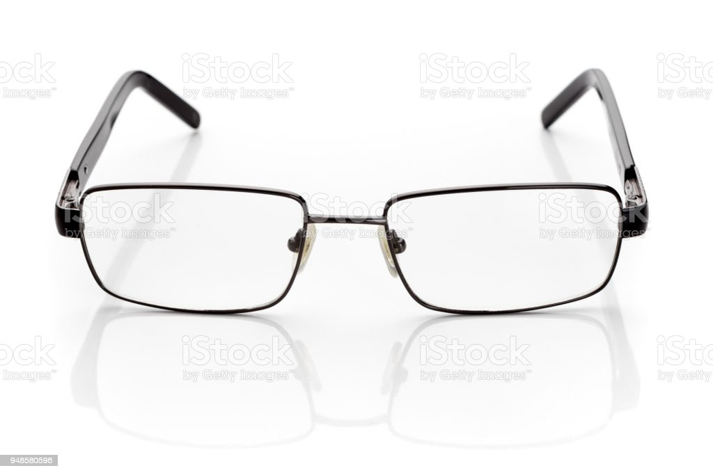 799b8034c2 Eyeglasses For Vision Correction In Thin Black Metallic Frame ...