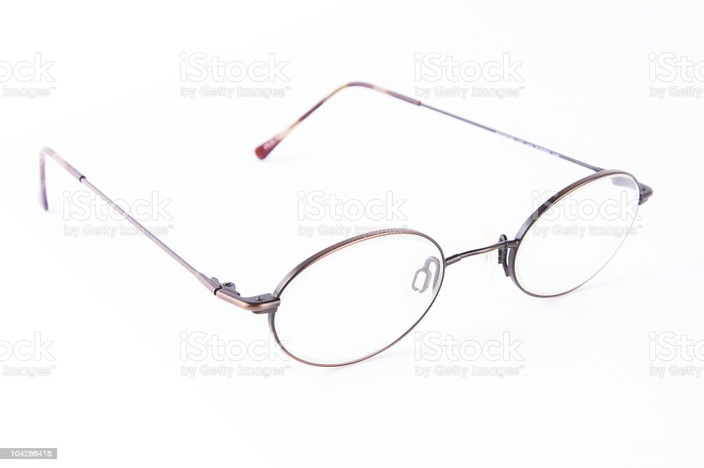 eyeglasses isolated on white background stock photo