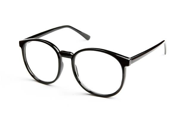 Eyeglasses isolated on white background stock photo