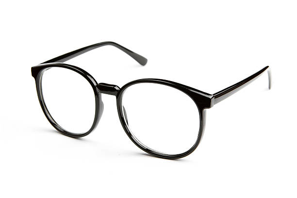 óculos isolado no fundo branco - óculos - fotografias e filmes do acervo