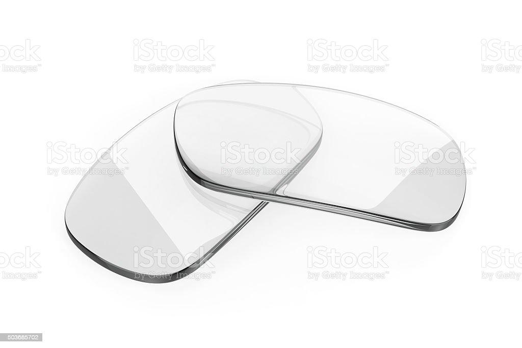 Eyeglasses lens stock photo