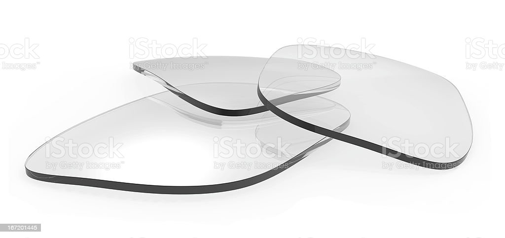 Eyeglasses lenses stock photo