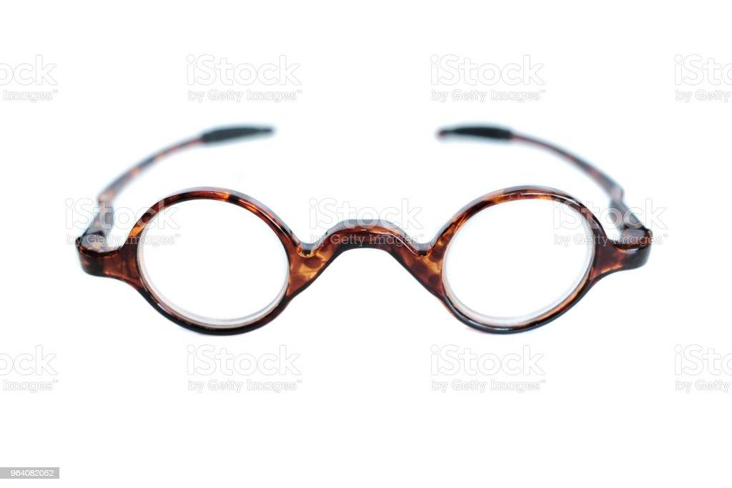 Eyeglasses on a white background - Royalty-free Close-up Stock Photo