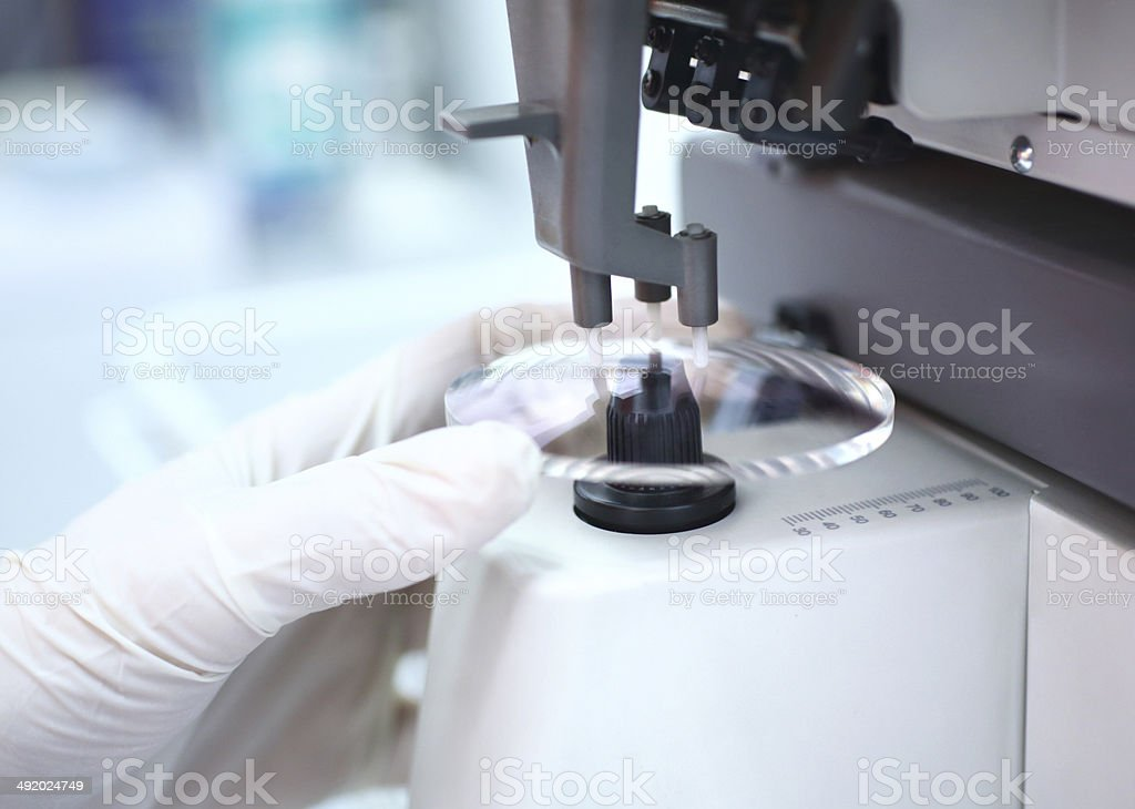Eyeglasses production. stock photo