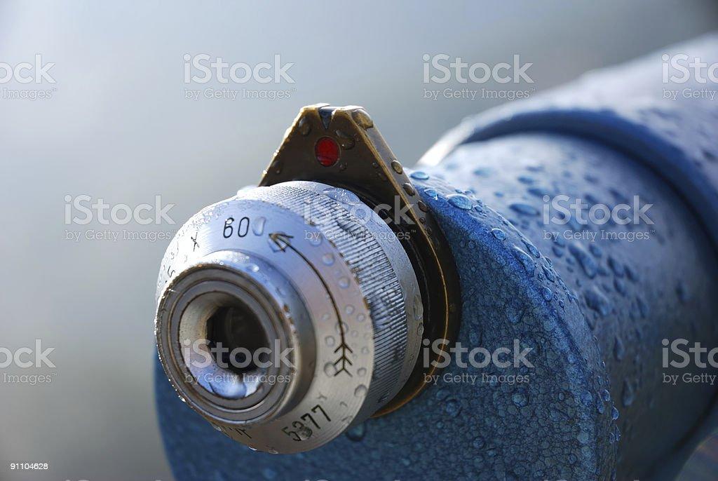 eyepiece of spyglass stock photo